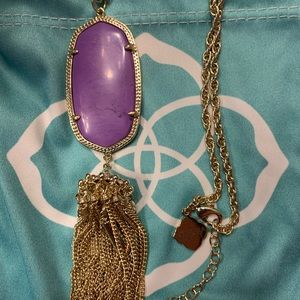 NWOT Kendra Scott Rayne Necklace in Purple